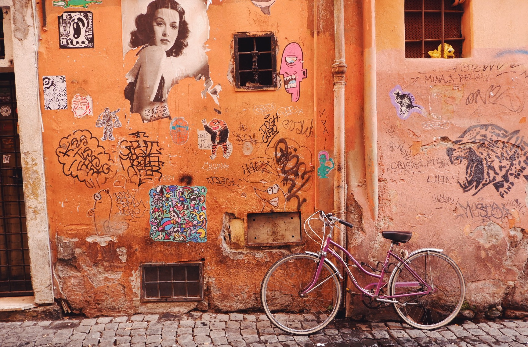 A bicycle in Trastevere, Rome, Italy
