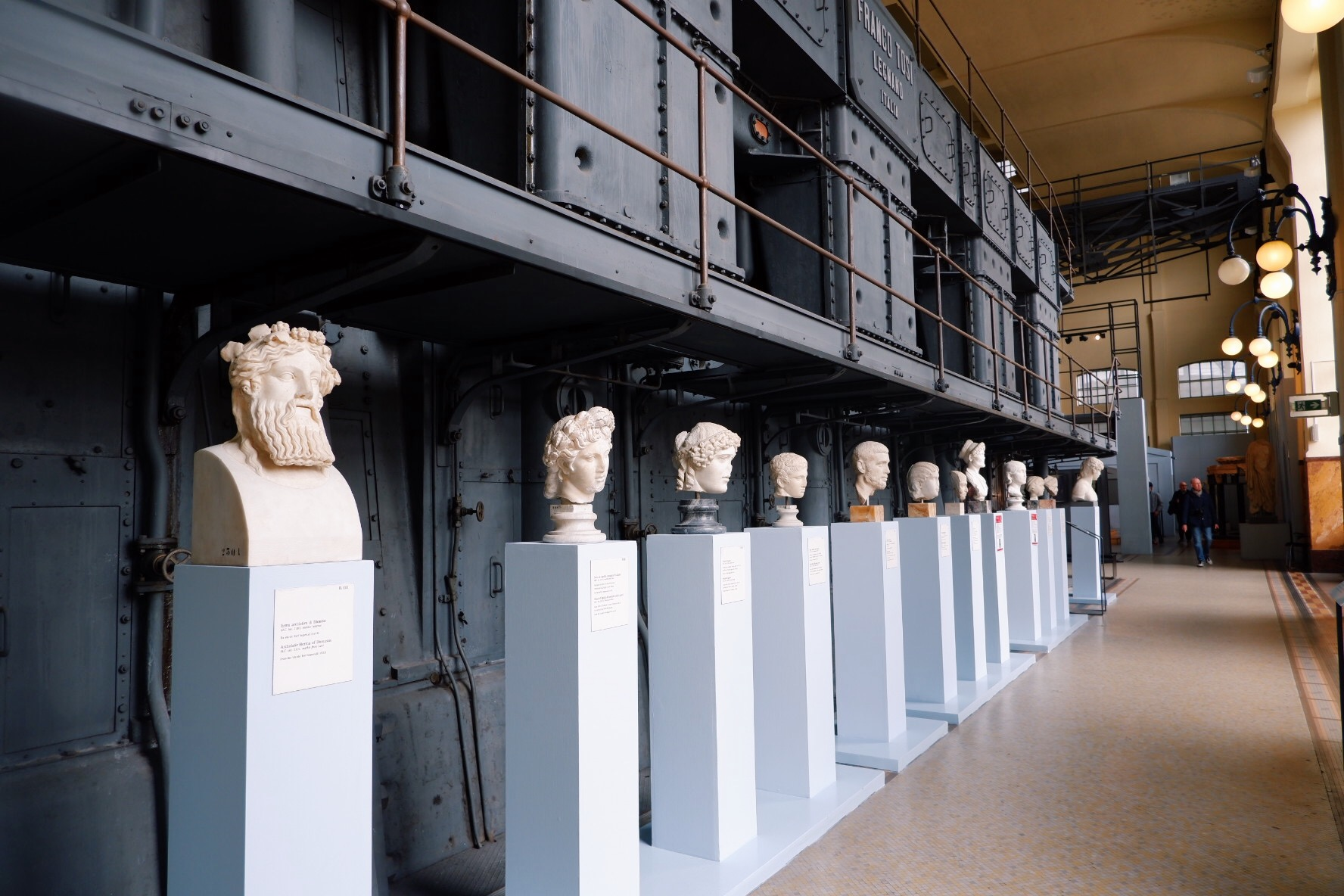 Marble sculptures at Centrale Montemartini