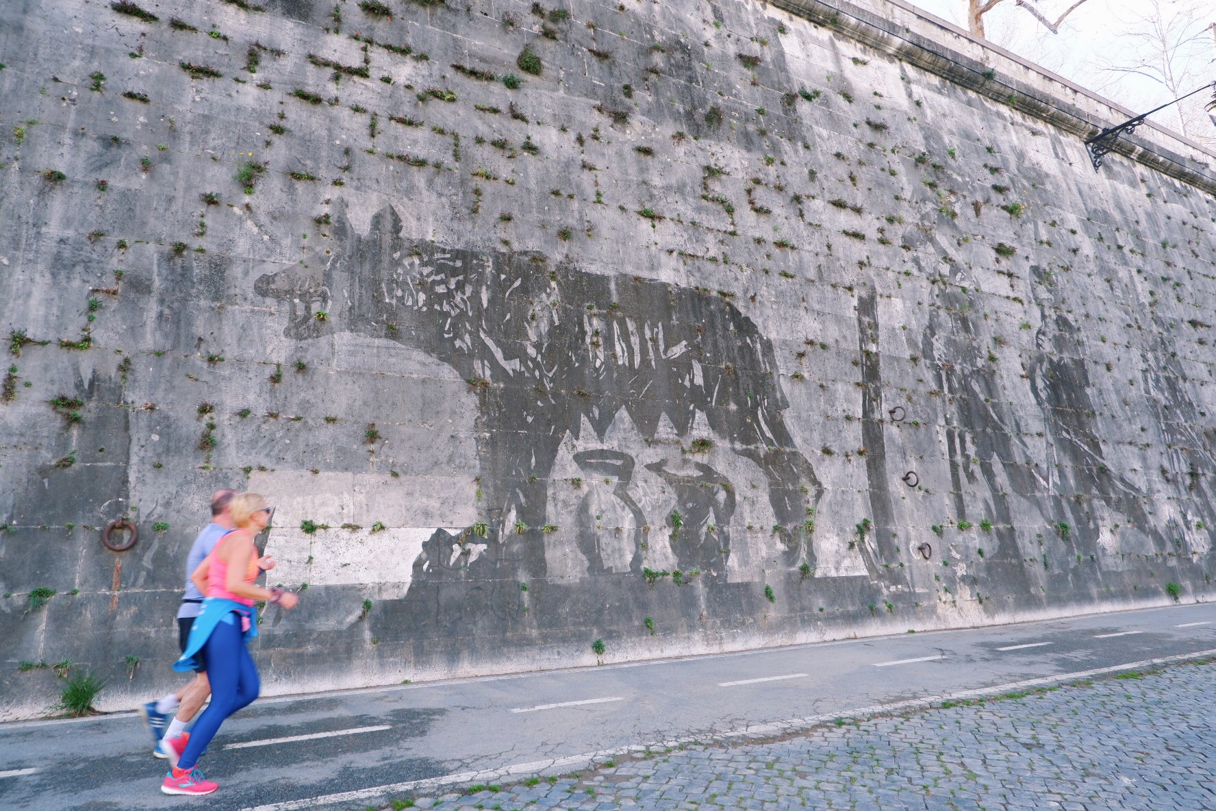 Triumphs and Laments artwork on the river Tiber - unusual art Rome